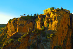 Ronda canyon in the evening. Stock Images