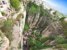 Ronda canyon, Spain Stock Photography
