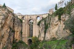 Ronda Cliffs, laga del ¡de MÃ, España foto de archivo libre de regalías