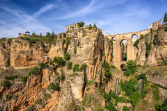 Ronda Cliffside Stock Photography