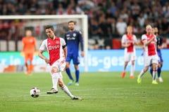 Ronda de calificación de la liga de campeones de UEFA tercera entre Ajax contra PAO Fotos de archivo