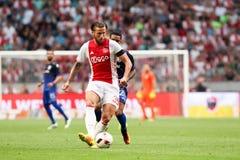 Ronda de calificación de la liga de campeones de UEFA tercera entre Ajax contra PAO Fotos de archivo libres de regalías