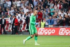 Ronda de calificación de la liga de campeones de UEFA tercera entre Ajax contra PAO Imagenes de archivo