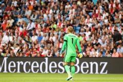 Ronda de calificación de la liga de campeones de UEFA tercera entre Ajax contra PAO Fotografía de archivo