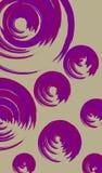 Ronda del rosa y violeta stock de ilustración