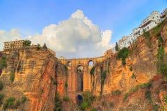 Ronda, Puente Nuevo Bridge Arch. Ronda, Famous Puente Nuevo Bridge Arch stock images