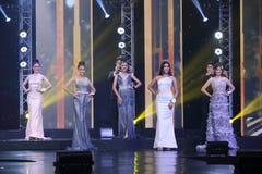 Ronda final de Srta. Tourism Queen Thailand 2017 Fotos de archivo libres de regalías