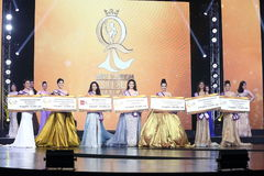 Ronda final de Srta. Tourism Queen Thailand 2017 Fotografía de archivo