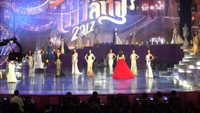 Ronda final del universo 2017 del ` s de Srta. Tiffany en Tiffany Theatre almacen de video