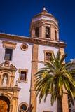 Ronda, Hiszpania przy Merced Karmelickim klasztorem Obraz Royalty Free
