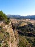 Ronda: kanjon El Tajo 2 royaltyfri foto