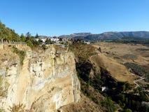 Ronda: kanjon El Tajo 3 royaltyfri foto