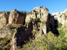 Ronda: kanjon och bro 1 royaltyfri fotografi