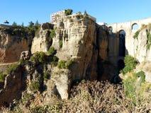 Ronda: kanjon och bro 3 royaltyfri foto