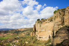 Ronda klippor i Andalusia Arkivbilder