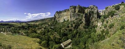 Ronda krajobrazowy panoramiczny widok Zdjęcie Stock