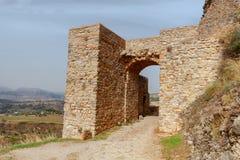 ronda La parete della fortezza Fotografie Stock