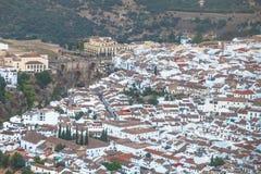 Ronda, laga de ¡ de MÃ, Espagne Paysage d'Airview Photos stock