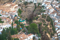 Ronda, laga do ¡ de MÃ, Espanha Airviews Foto de Stock Royalty Free