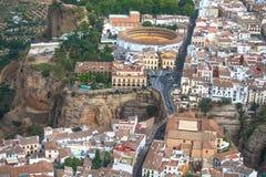 Ronda, laga do ¡ de MÃ, Espanha Praça de touros e lugares do interesse Fotografia de Stock