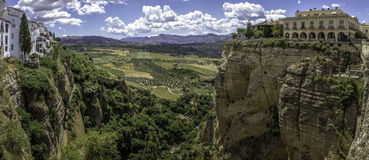 Ronda landscape panoramic view. (003) Royalty Free Stock Photography