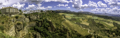 Ronda landscape panoramic view. Stock Images