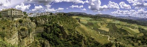 Ronda landscape panoramic view. Stock Images
