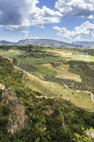 Ronda landscape view. A city in the Spanish province of Malaga. Stock Image
