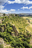 Ronda landscape view. A city in the Spanish province of Malaga. Royalty Free Stock Photography