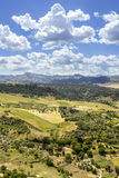 Ronda landscape view. A city in the Spanish province of Malaga. Royalty Free Stock Image