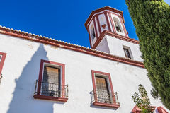 Ronda, Malaga, Spain. Ronda is a mountaintop city in Spain's Malaga province in Andalusia that's set dramatically above a deep gorge. This gorge El Tajo Royalty Free Stock Image