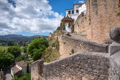Ronda Moorish Town. Ancient Pathway in Ronda, Spain Stock Image