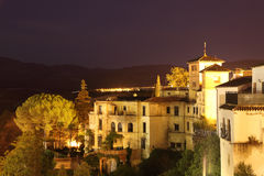 Ronda at night. Andalusia, Spain Royalty Free Stock Photography