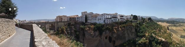 Ronda old city view Royalty Free Stock Photo