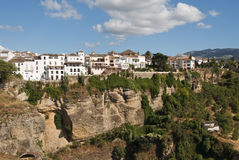 Ronda Old Town Spain. Ronda old town next to the gorge Andalucia Spain Royalty Free Stock Photo