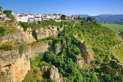 Ronda, one of the most famous white villages of Malaga (Andalusia), Spain Stock Photos