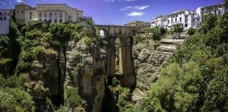 Ronda Panoramic-Ansicht über Puente Nuevo Lizenzfreie Stockfotografie