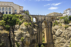 Ronda Panoramic-Ansicht über Puente Nuevo, Spanien Stockfoto