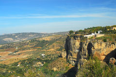 Ronda Panoramic view. Panoramic view at an ancient village, Ronda, Spain Stock Image