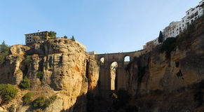 Ronda Panoramic view. Panoramic view at an ancient village, Ronda, Spain Royalty Free Stock Photography