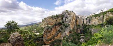 Ronda Panoramic. Panoramic view of Ronda New Bridge and El Tajo at Andalucia, Spain Stock Photography