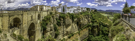 Ronda Panoramic view over Puente Nuevo Royalty Free Stock Photos