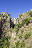 Ronda Panoramic view over Puente Nuevo, Spain. Stock Photo