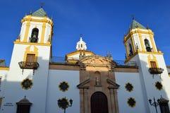 Ronda - The parish church of Socorro, Parroquia de Nuestra Señora del Socorro. Plaza del Socorro is the modern political centre of Ronda.The parish church of royalty free stock images