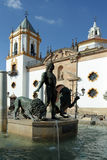 Ronda - plaza principal Imagen de archivo libre de regalías