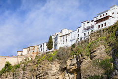 Ronda Pueblo Blanco on Rock in Spain Stock Image