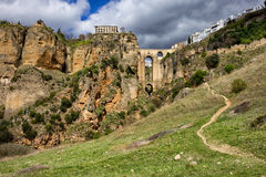 Ronda Rock Andalucia Landscape in Spain Royalty Free Stock Image