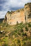 Ronda Rock i Andalusia Arkivbild