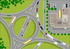 ronda ruch drogowy Ilustracji
