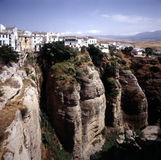 Ronda , Spain. Ronda in Spain  build on clifs Royalty Free Stock Photos